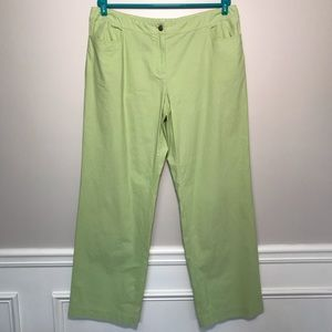 Eileen Fisher Lime Green Straight Leg Casual Pants